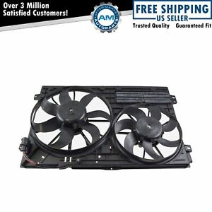Radiator Cooling Dual Fan Assembly For A3 Tt Jetta Passat Eos Beetle Rabbit