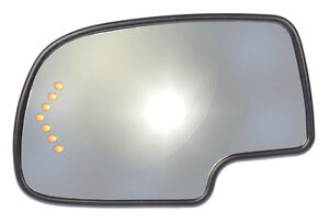 New Power Replacement Side View Mirror Glass Lh For Listed Chevy Gmc Trucks