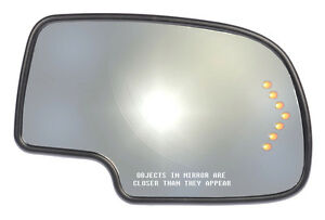 New Power Replacement Side View Mirror Glass Rh For Listed Chevy