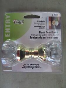 Glass Door Knob Set 2 Fluted Knob E2279 Defender New