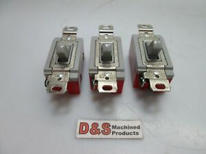 Lot Of 3 Hubbell 1200 20a Toggle Switch 120 277v A c Only