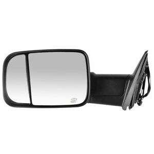 Side View Mirror Power Heated Signal Flip Up Towing Left Lh For Dodge Ram Pickup