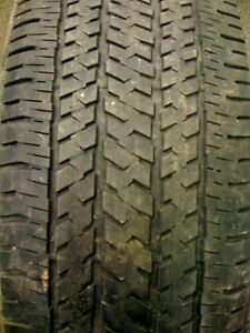 One Used Bridgestone Dueler H t 245 65r17 Tire With 7 32nds Tread One Used Tire