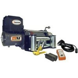 New Keeper Kw95122 12 Volt Dc Electric 9500 Lb Winch With Remote 100 Ft X 21 64