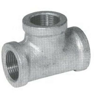 New Lot 6 2 Inch Galvanized Pipe Threaded Tee Fittings Plumbing 6101521