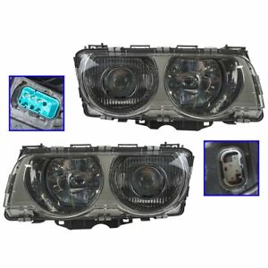 Hid Xenon Headlights Headlamps Left Right Pair Set New For 99 01 E38 7 Series