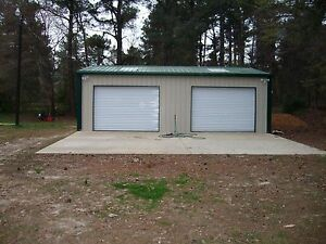 Steel Metal 2 car Garage Building Kit 576 Sq Workshop Barn Shed Prefab Storage