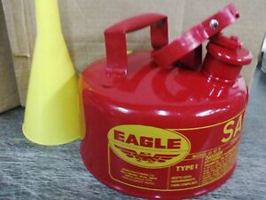 Eagle Safety Gas Can 1 Gallon Osha Nfpa Approved New