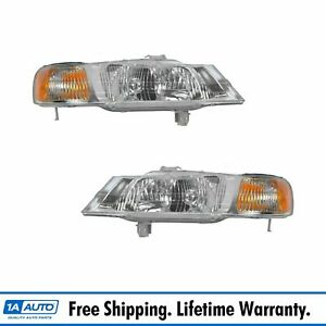 Headlights Headlamps Left Right Pair Set New For 99 04 Honda Odyssey