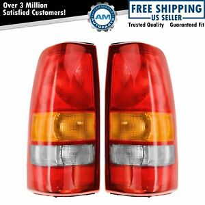 Rear Brake Taillight Taillamp Light Lamp Lh Rh Pair Set For Silverado Sierra