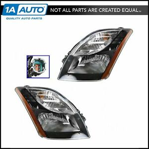 Headlight Headlamp Pair Set Of 2 For Nissan Sentra Sr Se R Spec V