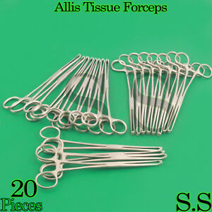 20 Allis Tissue Forceps 6 5x6 Teeth Surgical Instruments
