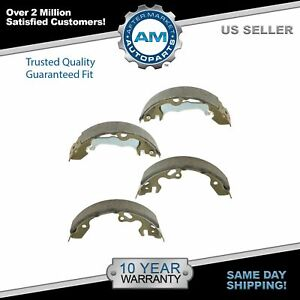 Nakamoto Rear Drum Brake Shoes Pair Set Kit For 00 11 Focus