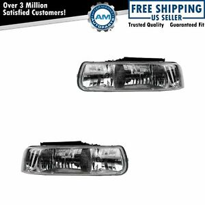 Diamond Performance Headlight Headlamp Pair Set For Silverado Suburban Tahoe