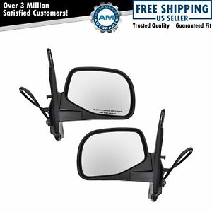 Heated Power Side Mirrors Pair Set Left Lh Right Rh For 95 01 Ford Explorer