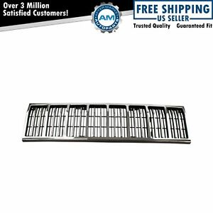 Grille Grill Chrome And Black For 88 90 Jeep Comanche Cherokee