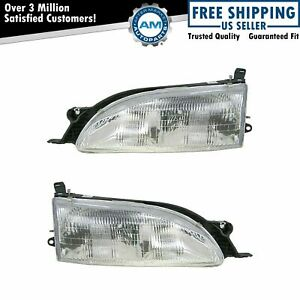 Headlights Headlamps Left Right Pair Set New For 95 96 Toyota Camry