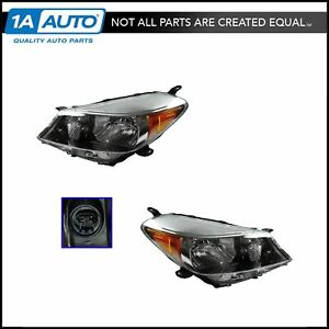 Headlight Headlamp Lh Driver Rh Passenger Pair For 12 13 Toyota Yaris Hatchback