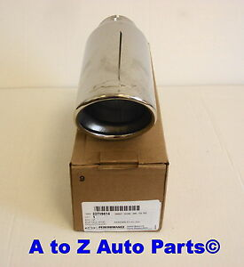 New 2007 2014 Chevy Silverado Tahoe 4 8 Or 5 3 Chrome Bowtie Exhaust Tip Oe Gm