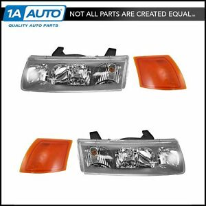 Head Light Lamp Corner Turn Signal Driver Passenger Set For 02 04 Saturn Vue