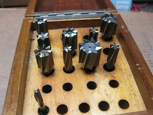 Weldon 10pc End Mill Cutter Cutters Set Case Usa Made