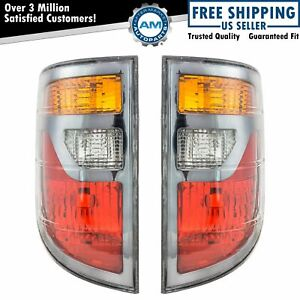 Rear Brake Taillights Taillamps Pair Set For 06 08 Honda Ridgeline Pickup Truck