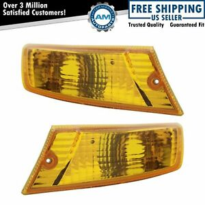 Corner Parking Side Marker Turn Signal Lights Lamps Pair Set For 05 07 Liberty