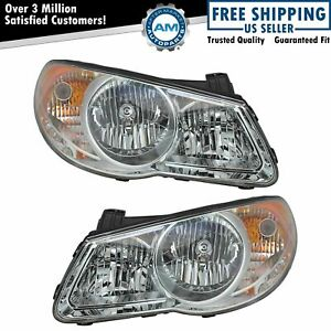 Headlight Lamp Driver Left Lh Passenger Right Rh Pair Set Fits 07 10 Elantra