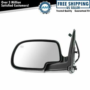 Power Heated Side View Mirror Folding Textured Driver Left Lh For Chevy Gmc
