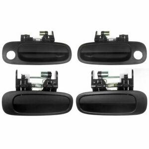 Exterior Outside Outer Textured Door Handle Kit Set Of 4 For 98 02 Prizm Corolla