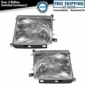 Headlamps Headlights Pair Set Left Lh Right Rh For Toyota Tacoma Pickup Truck