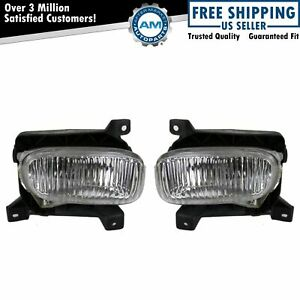 Oval Fog Driving Lights Lamps Pair Set Lh Rh For 00 05 Tundra Pickup Truck