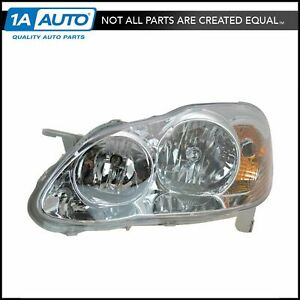 Headlight Headlamp Driver Side Left Lh New For 05 08 Toyota Corolla Ce