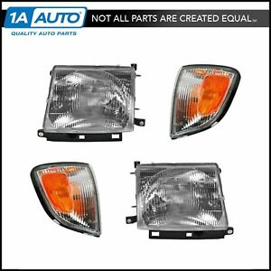 Headlights Parking Corner Lights Left Right Kit Set For 97 00 Tacoma 2wd 2x4