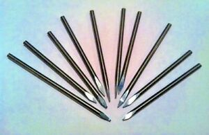 Lot Of 10 Solid Carbide 1 8 Engraving Bits Watchmaker Jewelry Lathe Graver Cnc