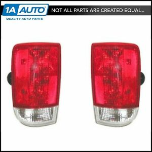 Taillights Lamps Taillamps Brake Lights Pair Set Rear For Chevy Bravada S10 S15