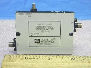 General Microwave 1951 Sma Rf Absorptive Modulator 1 0 2 0ghz Opt 64