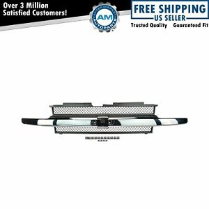 Grille Grill W Chrome Center Bar Kit Set New For Chevy Trailblazer