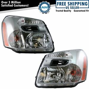 Headlights Headlamps Left Right Pair Set Of 2 For 05 09 Chevy Equinox New