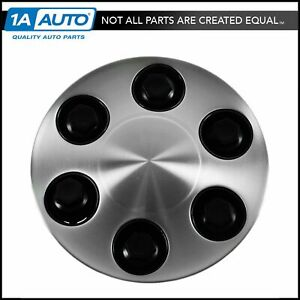 Brushed Aluminum 17 Wheel Center Cap Cover For Avalanche Silverado Tahoe