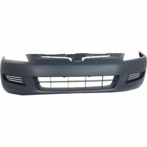 Front Bumper Cover For 2003 2005 Honda Accord 4cyl 6cyl Coupe Primed Plastic