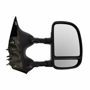Towing Manual Side View Mirror Passenger Right Rh For Ford Super Duty Truck