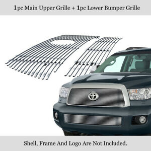 Fits 2008 2013 Toyota Sequoia Billet Grille Combo Insert