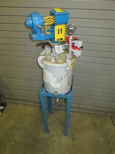 Binks Pneumatic Air Direct Drive Agitator 2 Gallon Ss Pressurized Pot 83 2476