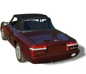 Alfa Romeo Spider Graduate Veloce Convertible Soft Top Black Stayfast Cloth