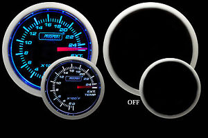 Egt Exhaust Gas Temperature Gauge Blue White 52mm 2 1 16 Includes Temp Probe