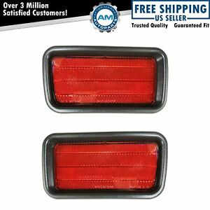 Rear Bumper Reflector Pair Set For 00 04 Mitsubishi Montero Sport