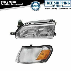 Headlight Headlamp Parking Corner Light Driver Side Left Lh For 93 97 Corolla