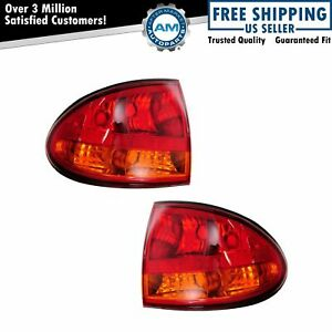 Taillights Taillamps Rear Stop Outer Brake Lights Pair Set For 99 04 Alero Olds