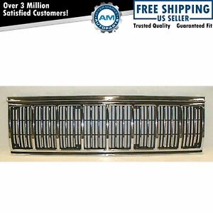 Chrome Black Front End Grill Grille For Jeep Cherokee Comanche Pickup Truck